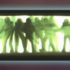 'Too Far Gone' 2m x 70cm prismex light box 2002